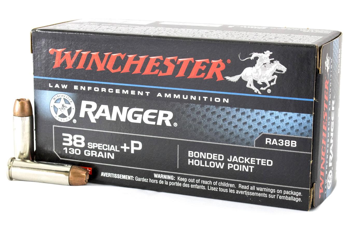 38 SPECIAL +P 130 GR RANGER BONDED 50/BX