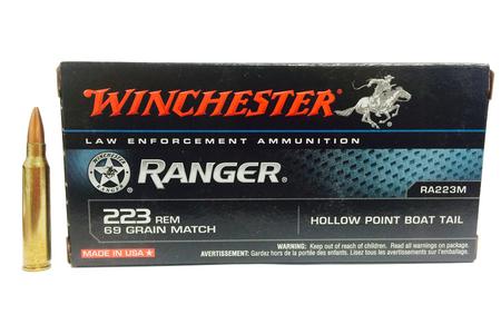 WINCHESTER AMMO 223 REM MATCH 69 GR RANGER BOATTAIL MATCH 20/BOX