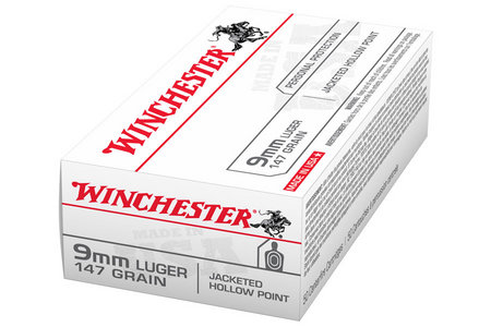 WINCHESTER AMMO 9mm Luger 147 gr JHP Jacketed Hollow Point USA 50/Box