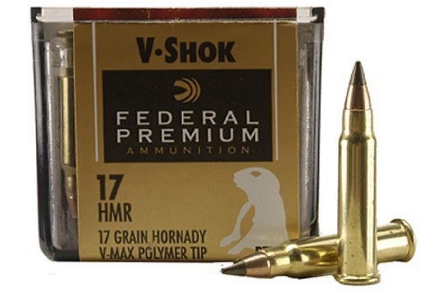 FEDERAL AMMUNITION 17 HMR 17GR HORNADY V-MAX VITAL-SHOK