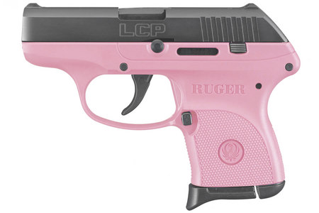 Ruger Lcp 380acp Centerfire Pistol With Pink Grip Frame