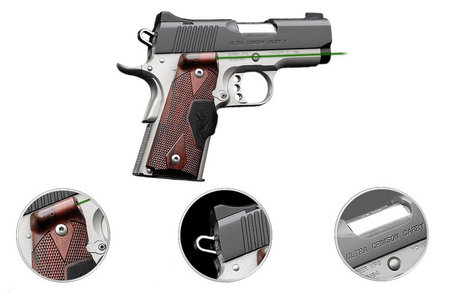 KIMBER ULTRA CRIMSON CARRY II 45ACP GREEN LASER