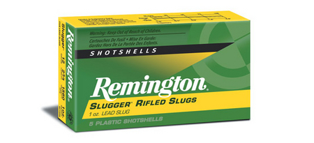 REMINGTON AMMO 12 GA 2 3/4 SLUGGER RIFLED SLUGS 5/BOX