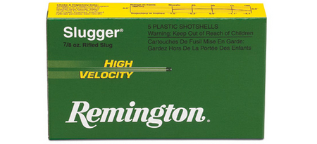 REMINGTON AMMO 12 GA 2-3/4 SLUGGER HIGH VELOCITY SLUGS 5/BOX