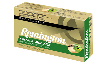 REMINGTON AMMO 12 GA ACCUTIP 2-3/4 BONDED SABOT SLUGS 5/BOX