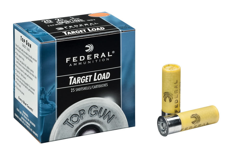 Federal 20 Ga Top Gun Target 2 3  4 Size 9 25  Box