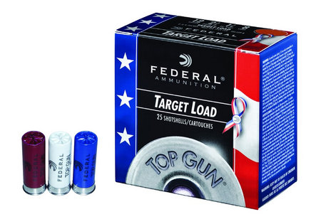 FEDERAL AMMUNITION 12 GA TOP GUN TARGET 2 3/4 8 SHOT 25/BOX