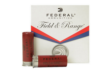 FEDERAL AMMUNITION 12 GA FIELD AND RANGE 2 3/4 1OZ 8 SHOT 25/BOX