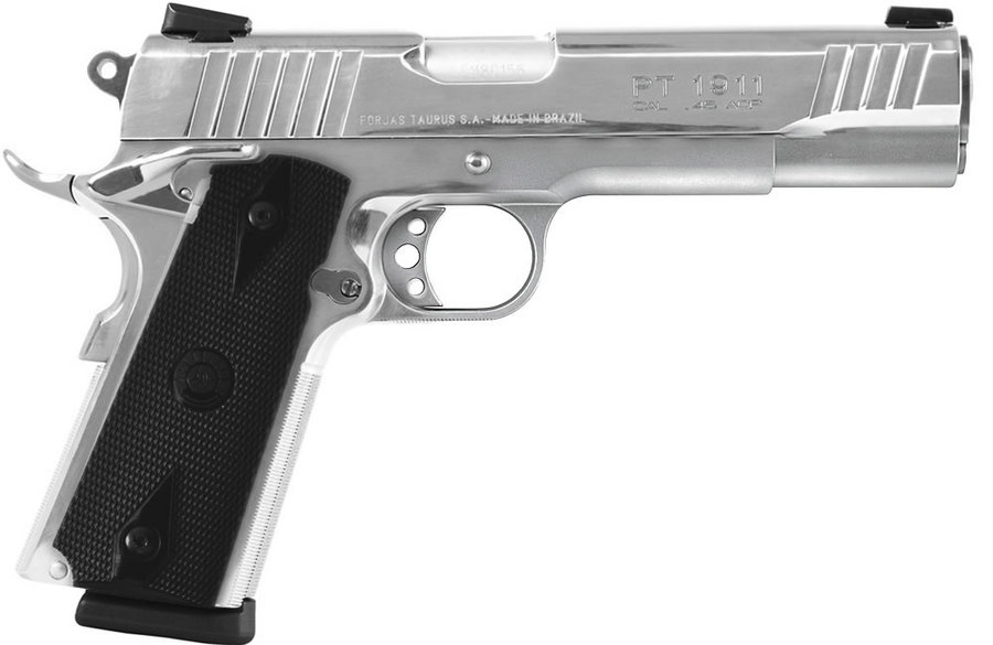 PT-1911 45ACP POLISHED STAINLESS PISTOL