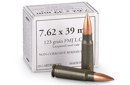 WOLF AMMO 7.62X39 123 GR FMJ STEEL CASE 1000 ROUNDS