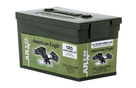 FEDERAL AMMUNITION XM855 5.56 62gr Mini Ammo Can 120 Rounds