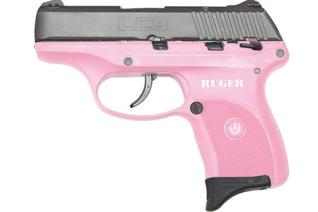 Ruger LC9 9mm Centerfire Pistol with Pink Grip Frame