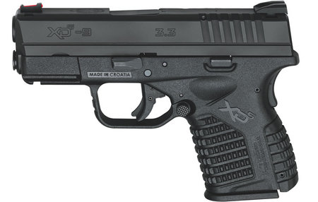SPRINGFIELD XDS 3.3 SINGLE STACK 9MM BLACK