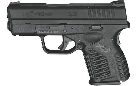 SPRINGFIELD XDS 3.3 SINGLE STACK 45ACP BLACK