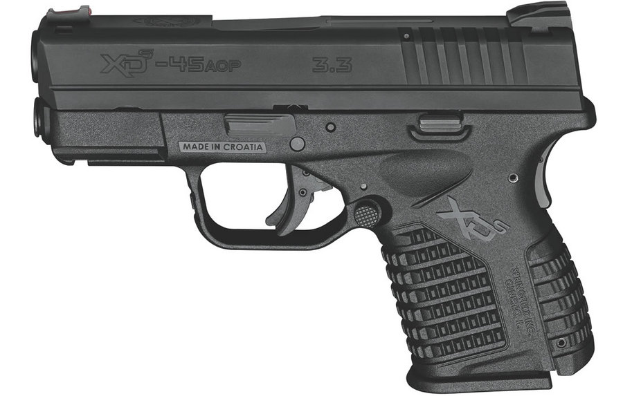 XDS 3.3 SINGLE STACK 45ACP BLACK