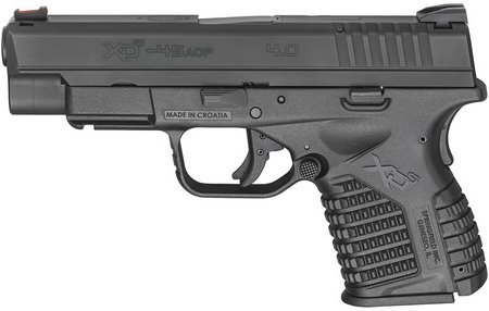 SPRINGFIELD XDS 4.0 SINGLE STACK 45ACP BLACK