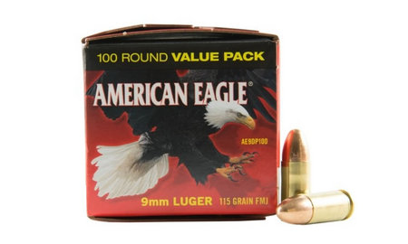 Federal Ammunition 9mm Luger 115 gr FMJ American Eagle 100/Box