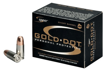 9MM +P 124-GR GOLD DOT HP SHORT BARREL