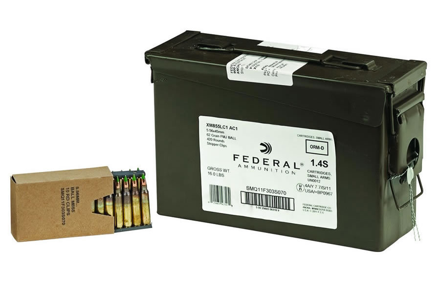 5.56MM 62GR FMJ AMMO CAN 420 RDS