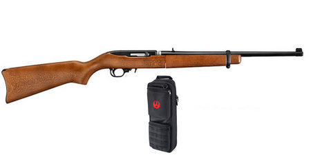RUGER 10/22 TAKEDOWN 22LR BEECH STOCK W/ CASE