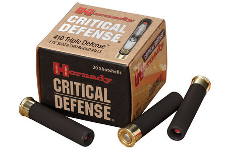 HORNADY 410 Critical Defense 2 1/2 FTX Slug 20/Box