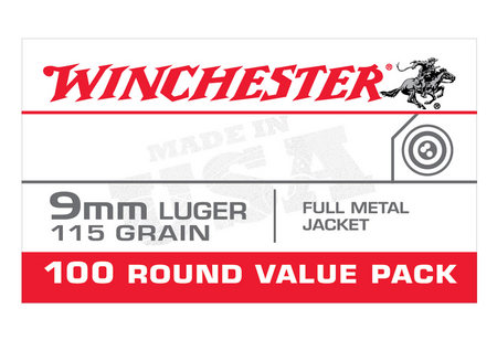 WINCHESTER AMMO 9MM 115GR FMJ VALUE PACK 100/BOX