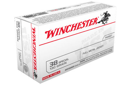 WINCHESTER AMMO 38 SPECIAL 130 GR FMJ 50/BOX