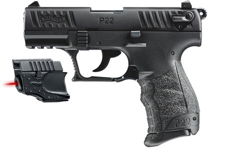 WALTHER P22 22LR WITH LASER SIGHT