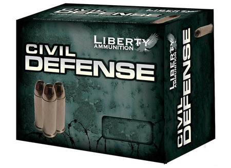 LIBERTY AMMO 9MM +P 50 GR HP CIVIL DEFENSE 20/BOX