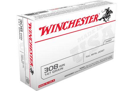 WINCHESTER AMMO 308 WIN 147 GR FMJ BOAT TAIL 20/BOX