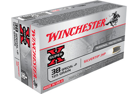 Winchester 38 Special +P 125 gr Silvertip JHP Super-X 50/Box