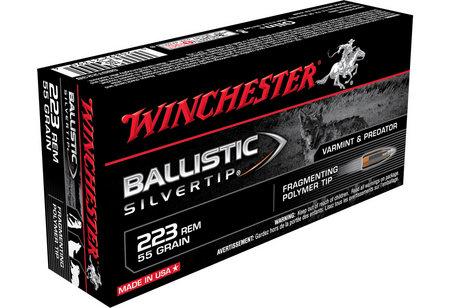 Winchester 223 Rem 55 gr Ballistic Silvertip 20/Box