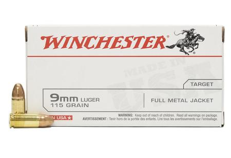 WINCHESTER AMMO 9mm Luger 115 gr FMJ 50/Box