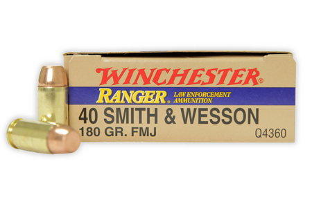 WINCHESTER AMMO 40SW 180 GR RANGER FMJ POLICE TRADE 50/BOX