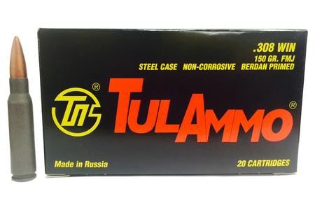 TULA AMMO 308 WIN 150 GR FMJ STEEL 20/BOX
