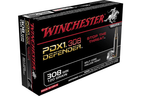 WINCHESTER AMMO 308 WIN 120 GR PDX1 DEFENDER HP 20/BOX