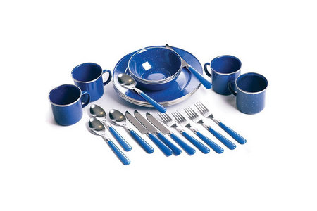 24 PC CAMPING TABLEWARE SET