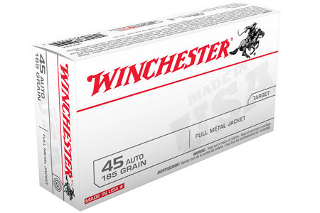 Winchester 45 Auto 185 gr FMJ Flat Nose 50/Box