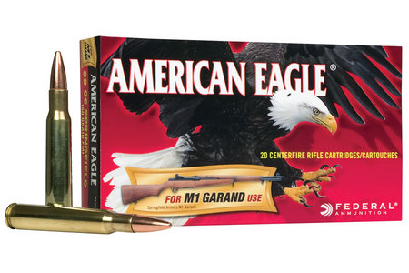 FEDERAL AMMUNITION 30-06 SPRINGFIELD 150 GR FMJ M1 GRAND 20/BOX