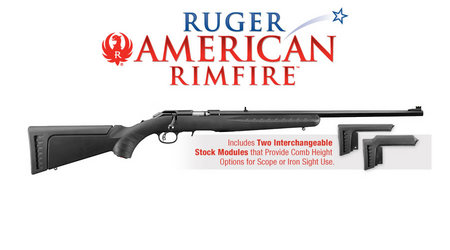 RUGER AMERICAN RIFLE 22LR WITH RED FIBER OPTIC