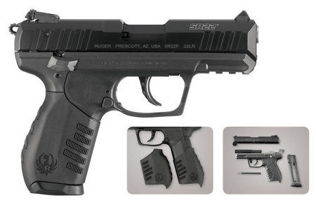 RUGER SR22 22LR RIMFIRE PISTOL WITH 3 MAGS