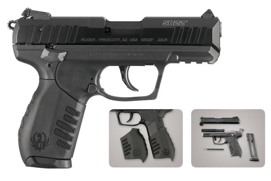 sr22 pistol ruger 22lr rimfire gun magazines laser sportsman firearms barrel p22 handgun outdoor guns superstore semi compact automatic stainless