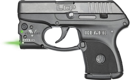 RUGER LCP 380ACP WITH VIRIDIAN GREEN LASER