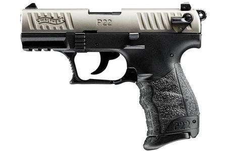 WALTHER P22 NICKEL 22LR RIMFIRE PISTOL