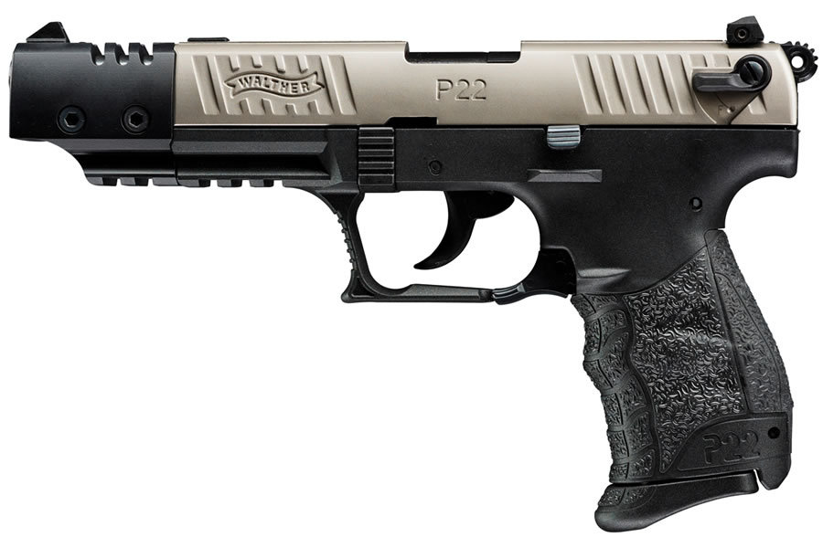 Walther P22 Target Nickel 22LR with Threaded Barrel