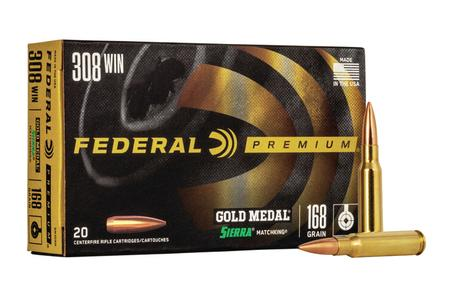 FEDERAL AMMUNITION 308 Win 168 gr Sierra MatchKing BTHP 20/Box