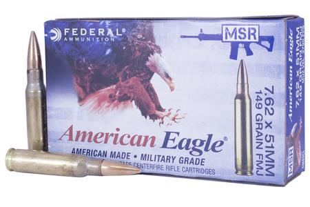 Federal Ammunition XM80 7.62 x 51mm 149 gr FMJ Ball 20/Box