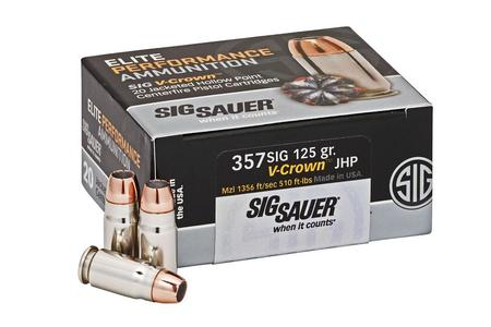 SIG SAUER 357 Sig 125 gr JHP Elite V-Crown 20/Box