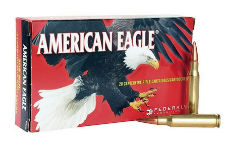 FEDERAL AMMUNITION 308 Win 7.62x51mm 150 gr FMJ Boat-Tail 20/Box