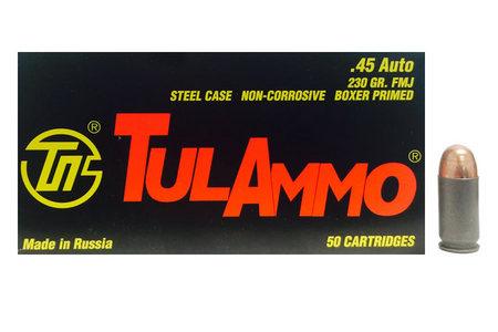 Tula Ammo 45 Auto 230 gr FMJ Steel Case 50/Box